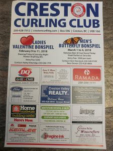Curling club poster