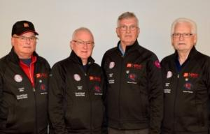 BC Interior Masters Curling Championship 2019 Over 60.  Erich Gross, Tim Hull, Harry Haberstock and Doug Thompson
